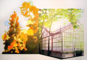 glasshouse and tree